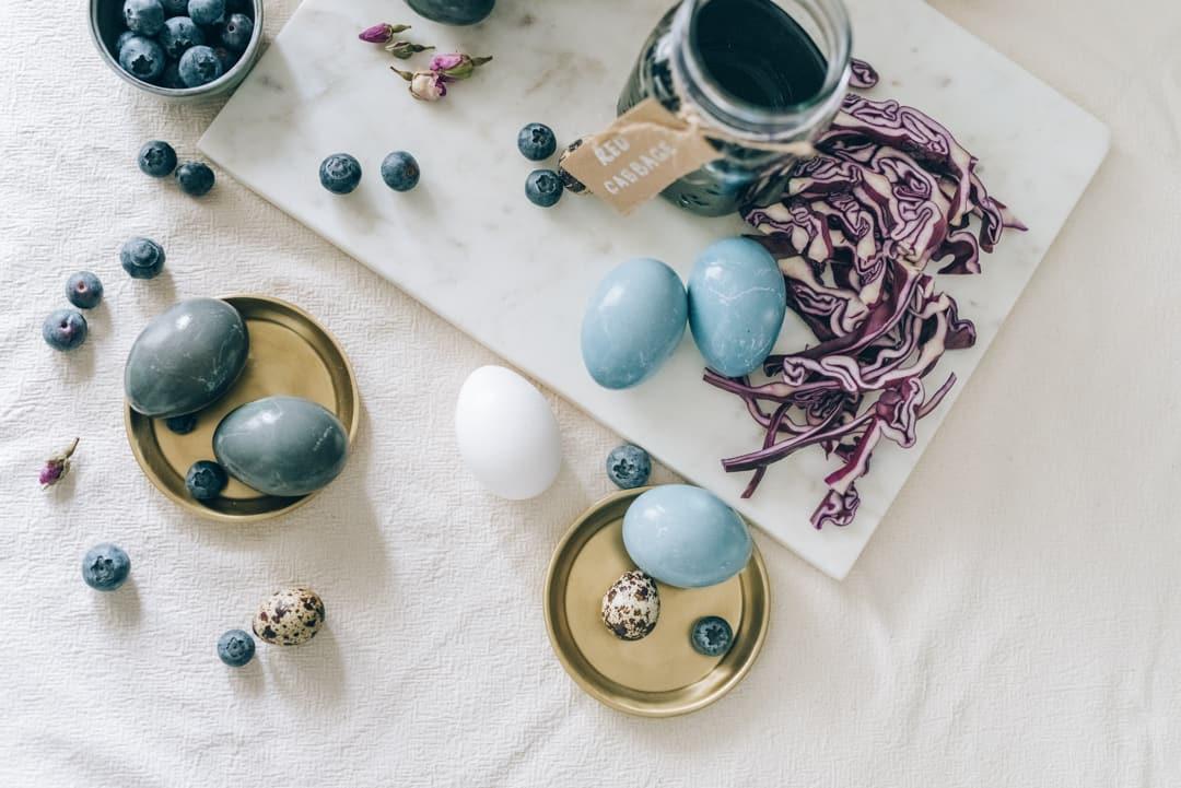 Eier natürlich färben